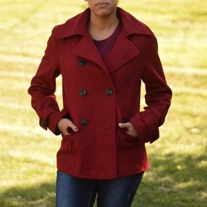 Red Peacoat:  Winter Coat